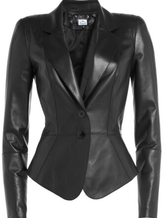 VearFit Fancy Black Casual Faux Leather Jacket Designer Collection for Women Tailor Made