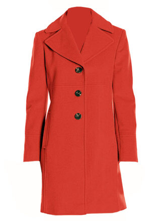 VearFit Women's Wool three buttons Trench Coat Blend Pea Woolen  Full length Red, Black Blazer