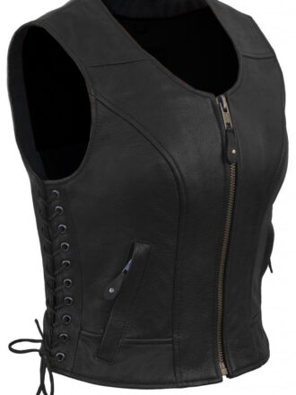 VearFit Women's Biky Vest coat Real Leather missy made to measure