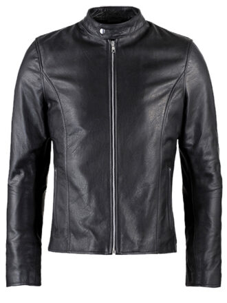 VearFit Evolver Movie Superhero Black PU Faux Leather Jacket for Men Replica